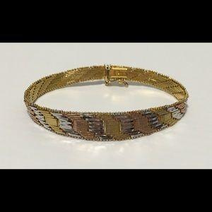 Jewelry - Vintage 925 Milor Italy Bracelet 18k plated